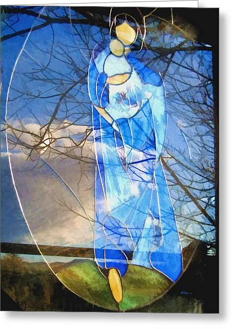 Enfoldment Greeting Cards - Arms Around Greeting Card by Kathy Bassett