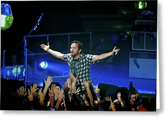 Pearl Jam Greeting Cards - Arms Wide Open Greeting Card by David Powell