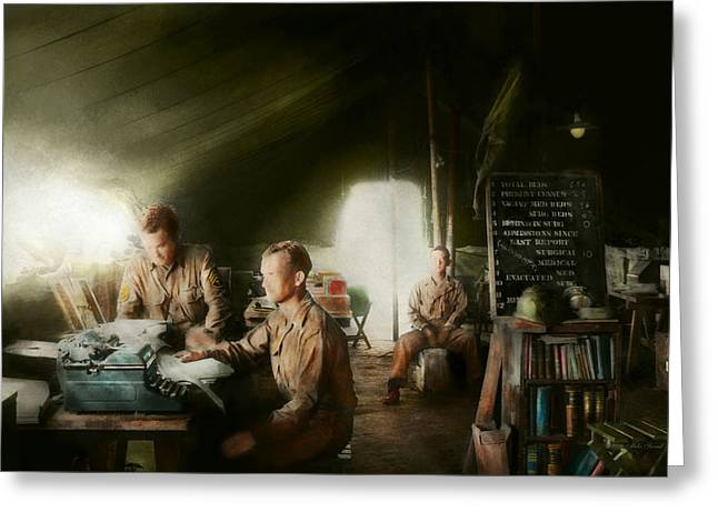 Third Army Greeting Cards - Army - Administration Greeting Card by Mike Savad