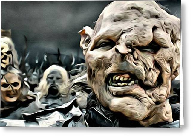 Lord Of The Rings Greeting Cards - Army of Orcs Greeting Card by Florian Rodarte