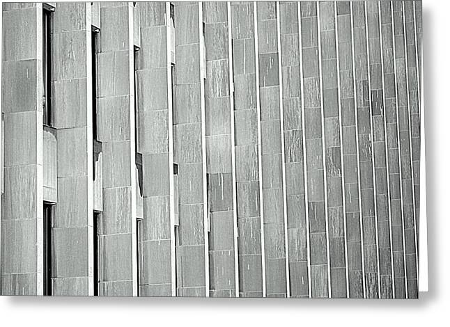 Gray Building Greeting Cards - Army of Pillars Greeting Card by Valentino Visentini
