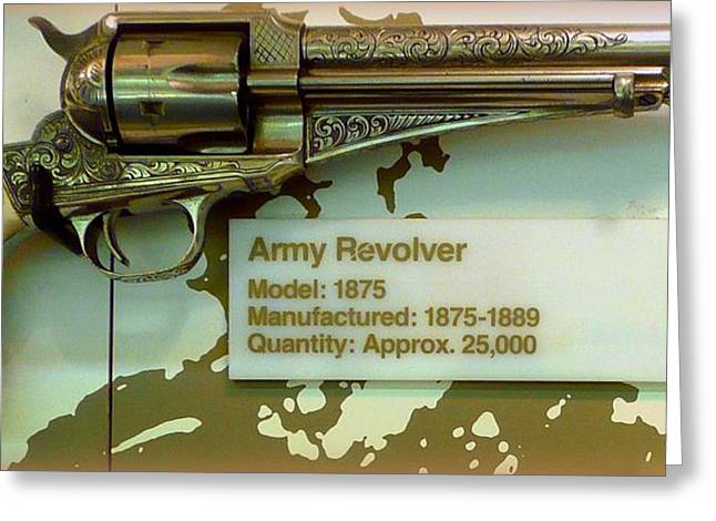 Old Relics Greeting Cards - Army Revolver 1875 Greeting Card by Lori Seaman