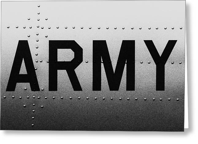 Army Strong Greeting Card by Benjamin Yeager