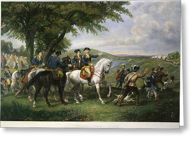 1770s Greeting Cards - ARMY: WAGON TRAIN, 18th C Greeting Card by Granger