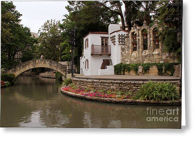 La Villita Greeting Cards - Arneson River Theatre Greeting Card by Paul Anderson