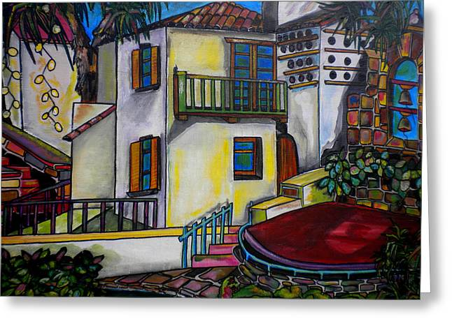 Riverwalk Greeting Cards - Arneson Theatre III Greeting Card by Patti Schermerhorn