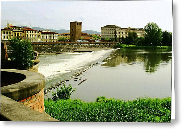 Ledge Photographs Greeting Cards - Arno River 1 Greeting Card by Ellen Henneke