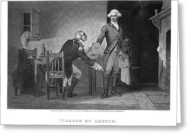 Meeting. Point Greeting Cards - Arnold & Andre, 1780 Greeting Card by Granger
