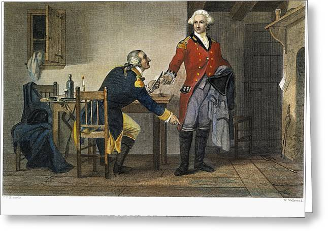 Meeting. Point Greeting Cards - Arnold And Andre, 1780 Greeting Card by Granger