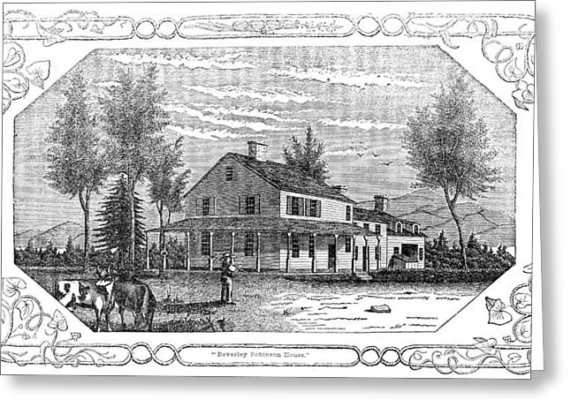 Carousel House Greeting Cards - Arnold Headquarters, 1780 Greeting Card by Granger