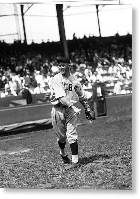 "Chicago Cubs Stadium Greeting Cards - Arnold John ""Jigger"" Statz Greeting Card by Retro Images Archive"