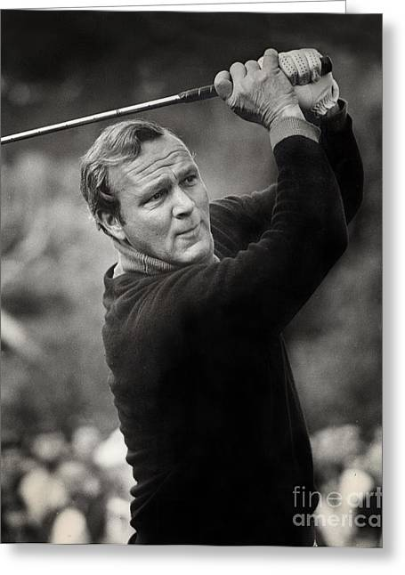Golf Photos Greeting Cards - Arnold Palmer Pro-Am Golf Photo Pebble Beach Monterey Calif. circa 1960 Greeting Card by California Views Mr Pat Hathaway Archives