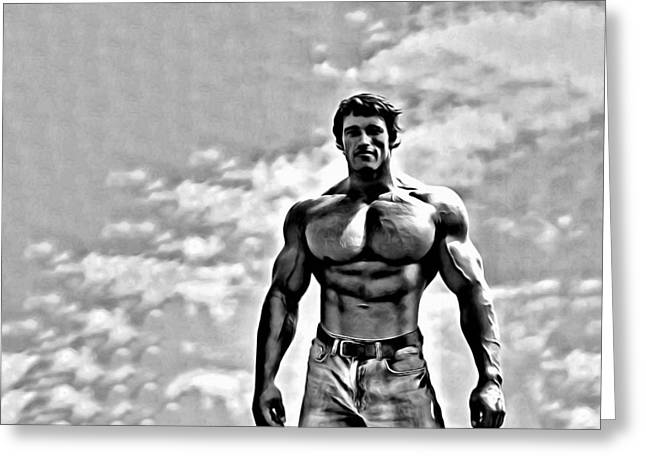 Schwarzenegger Greeting Cards - Arnold Schwarzenegger Greeting Card by Florian Rodarte