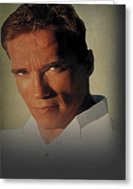 Arnold Schwarzenegger Greeting Cards - Arnold Schwarzenegger  Greeting Card by Movie Poster Prints