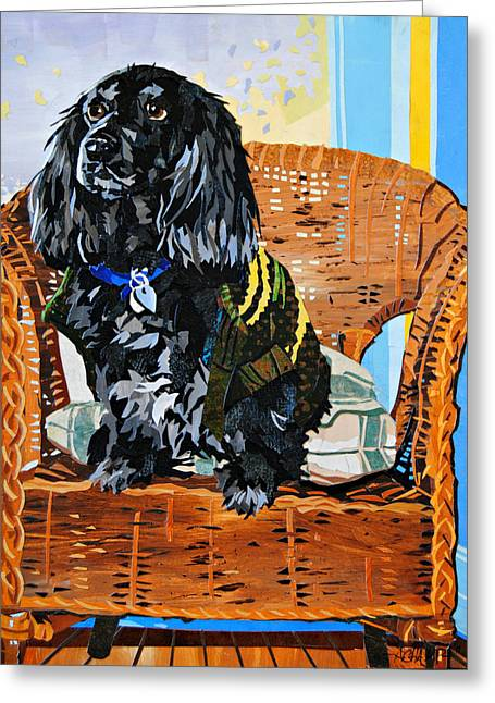Dog Sweaters Greeting Cards - Arnold Would Like a Cookie Greeting Card by Alyson Champ