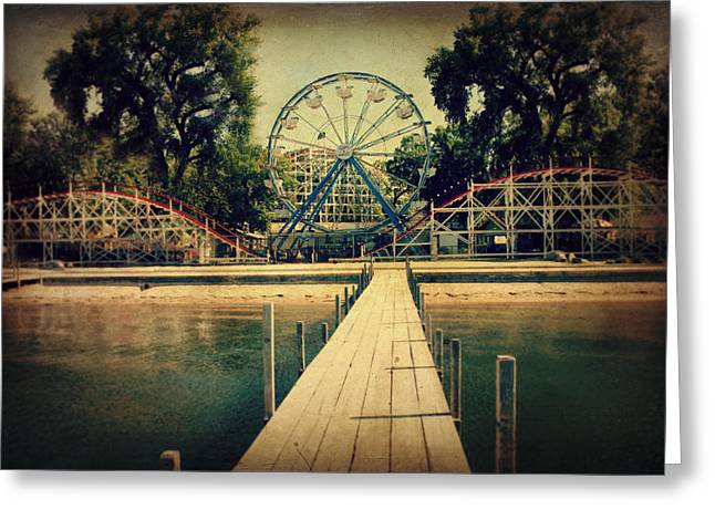 Ferris Wheel Greeting Cards - Arnolds Park Greeting Card by Julie Hamilton