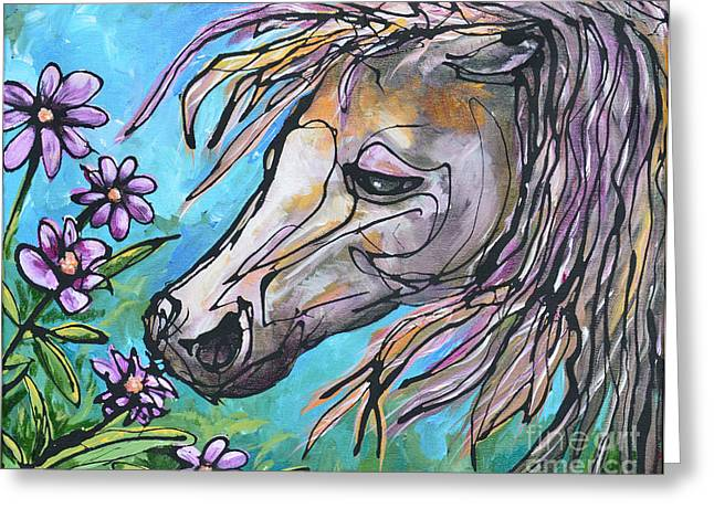 Paso Fino Horse Greeting Cards - Aromatherapy Greeting Card by Jonelle T McCoy