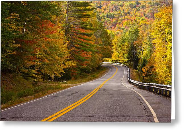 Around The Bend Greeting Card by Benjamin Williamson