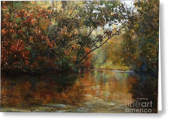 Babbling Paintings Greeting Cards - Around the Bend Greeting Card by Elizabeth Crabtree