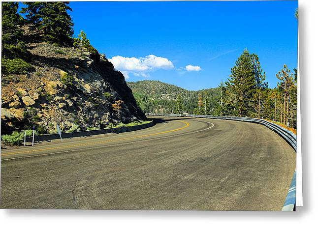 Mount Rose Highway Greeting Cards - Around The Bend Greeting Card by Scott Hill