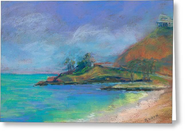Beach House Pastels Greeting Cards - Around the Bend to Lanikai Greeting Card by Jennifer Robin