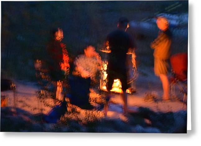 Around The Campfire Greeting Card by Kevin Felts