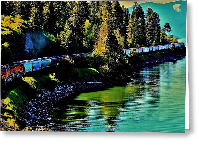 Lake Pend Oreille Greeting Cards - Around The Lake Greeting Card by Benjamin Yeager