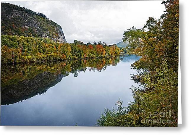 New Hampshire Leaves Greeting Cards - Around the River Bend Greeting Card by Edward Fielding