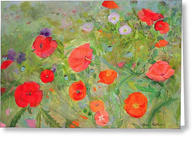 Natural Beauty Paintings Greeting Cards - Arpeggiando Greeting Card by Ann Patrick