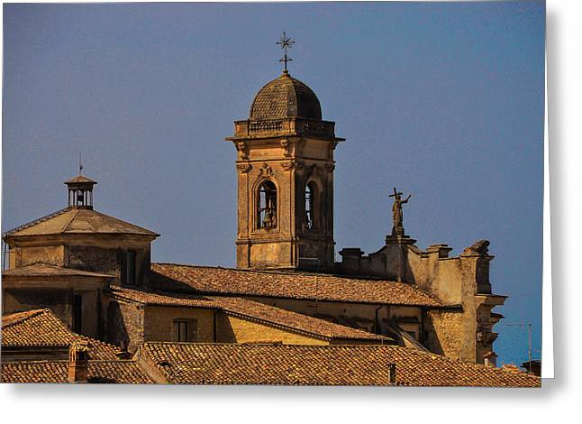 Town Square Greeting Cards - Arpino Roofs Greeting Card by Dany  Lison