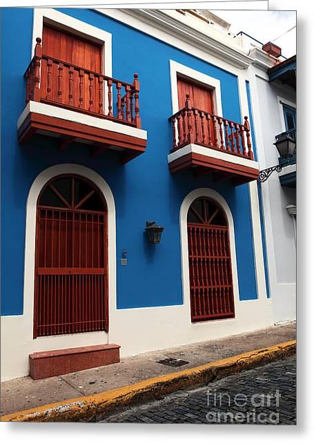 Arquitectura En San Juan Greeting Card by John Rizzuto