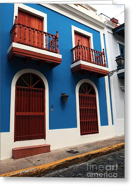 Old San Juan Greeting Cards - Arquitectura en San Juan Greeting Card by John Rizzuto