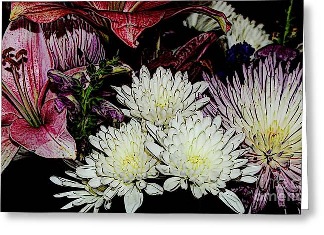 Struckle Digital Art Greeting Cards - Array Of Flowers Greeting Card by Kathleen Struckle