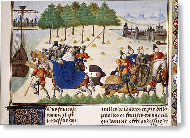 Written French Greeting Cards - Arrest Of Duke Of Gloucester Greeting Card by British Library