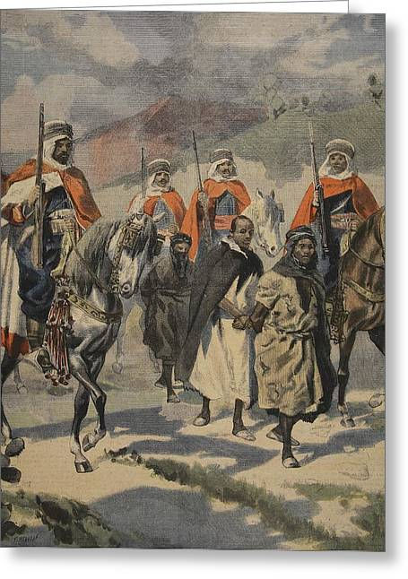 Assassination Greeting Cards - Arrest Of The Assassins Of Mores Greeting Card by French School
