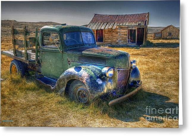 Old Western Photos Greeting Cards - Arrested Decay Greeting Card by Leanne Howie