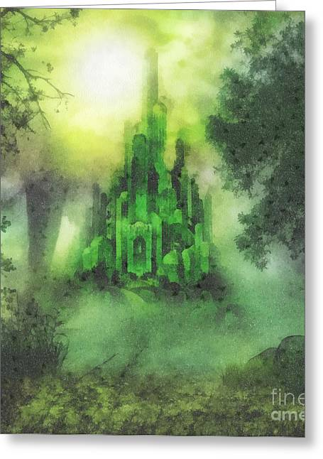 Fantasy World Greeting Cards - Arrival to Oz Greeting Card by Mo T