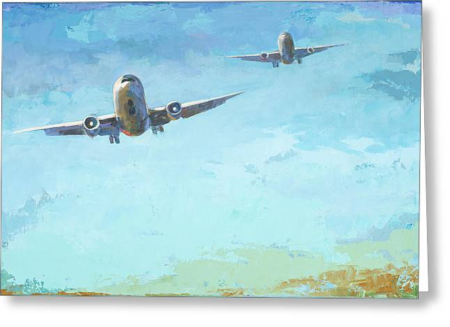 Arrivals #3 Greeting Card by David Palmer