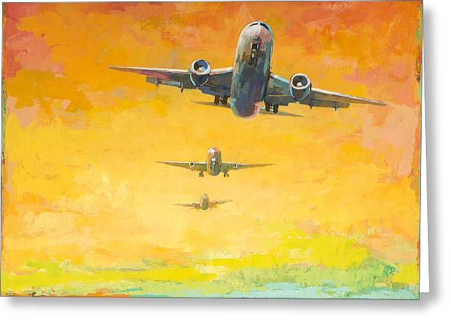 Arrivals #4 Greeting Card by David Palmer