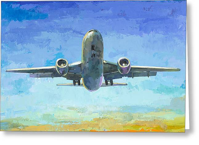 Airplanes Greeting Cards - Arrivals #5 Greeting Card by David Palmer