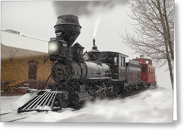 2-8-0 Greeting Cards - Arriving Greeting Card by Ken Smith