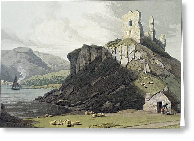 Islands Drawings Greeting Cards - Arros Castle, Isle Of Mull, From A Greeting Card by William Daniell