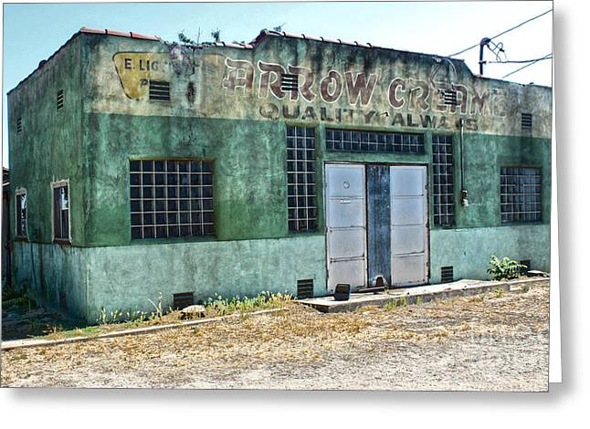 Arrow Creamery - Chino Ca - 02 Greeting Card by Gregory Dyer