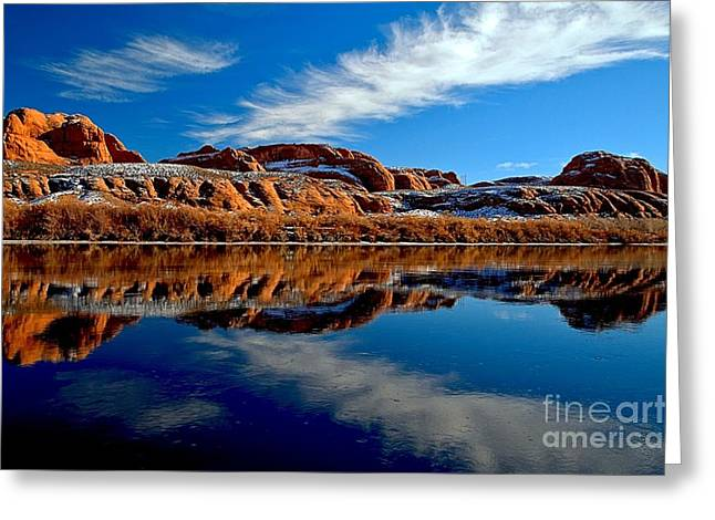 Southern Utah Greeting Cards - Arrow In The Green Greeting Card by Adam Jewell