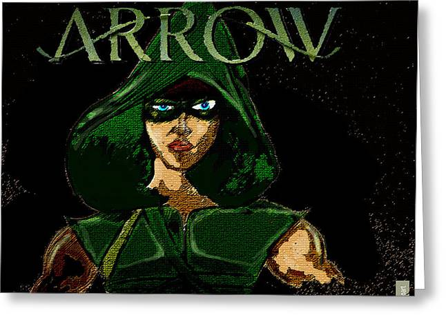 Comic Book Character Paintings Greeting Cards - Arrow  Greeting Card by Jazzboy