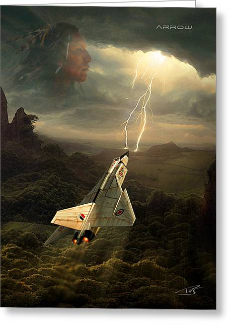 Wwi Digital Art Greeting Cards - Arrow Greeting Card by Peter Van Stigt