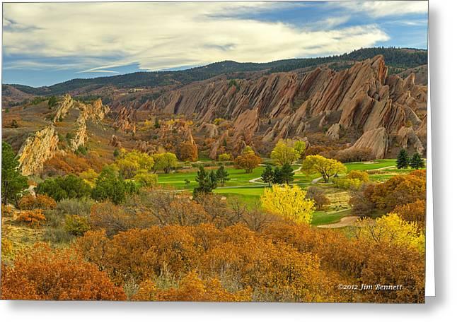 Arrowhead Autumn Color Greeting Card by Jim Bennett