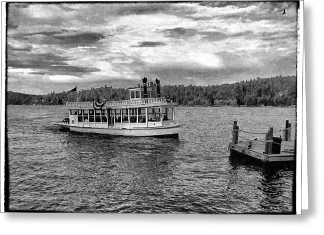Great Birds Digital Greeting Cards - Arrowhead Queen Paddlewheel Boat Greeting Card by Glenn McCarthy Art and Photography