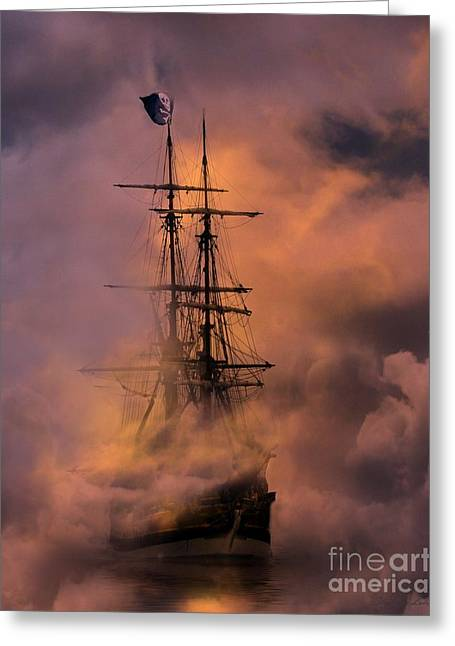Best Sellers -  - Pirate Ships Greeting Cards - Arrr Greeting Card by Stephanie Laird