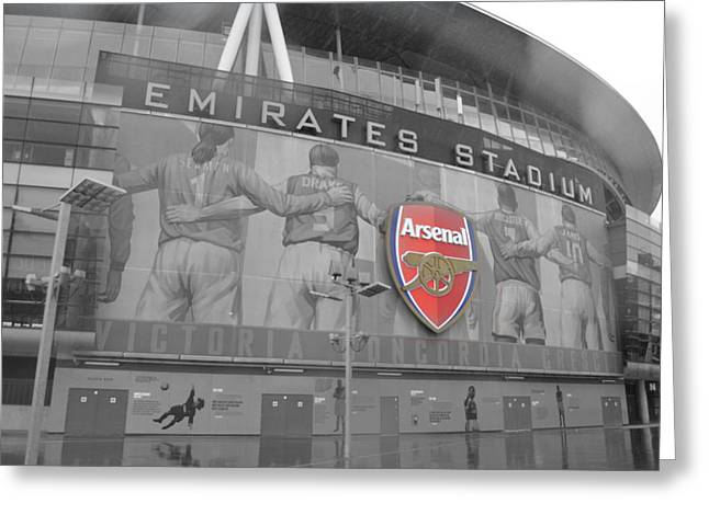 Arsenal Greeting Cards - Arsenal FC Greeting Card by Alexander Mandelstam
